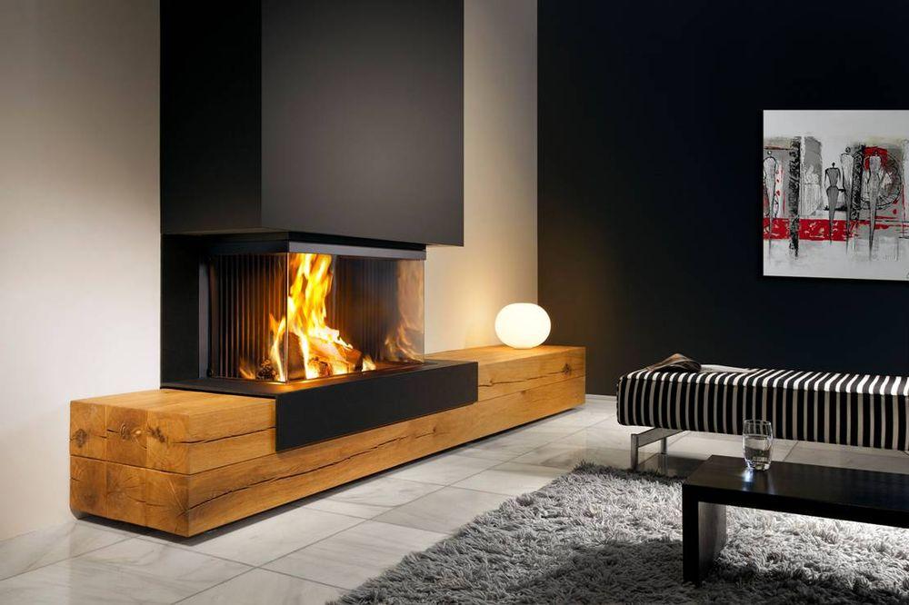 Cheminee feu de bois moderne for Cheminee feu de bois