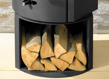 poêle à bois acier Austroflamm FLOCK acier pivotant
