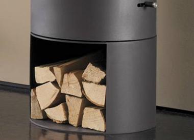 poêle à bois acier Austroflamm socle pour  PI-KO